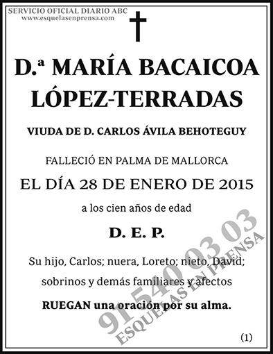 María Bacaicoa López-Terradas